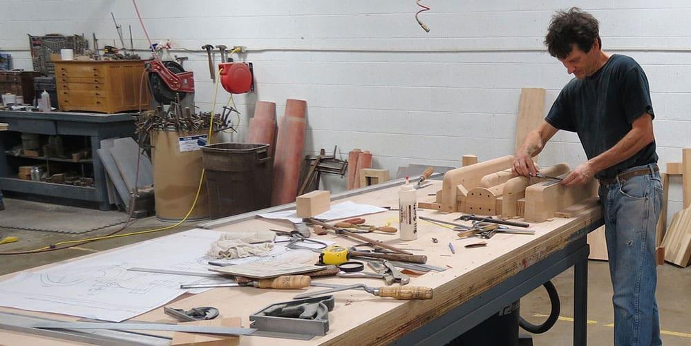 Man working at bench